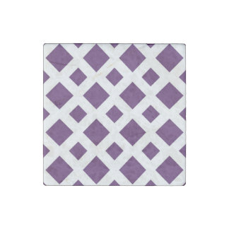 Diamantes púrpuras en blanco imán de piedra