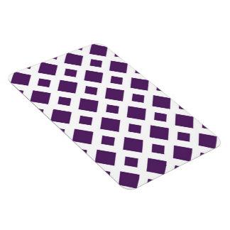 Diamantes púrpuras en blanco iman de vinilo