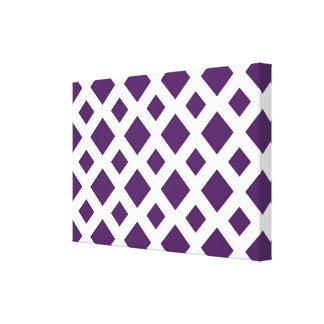 Diamantes púrpuras en blanco lona envuelta para galerias