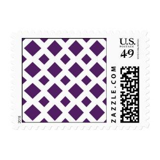 Diamantes púrpuras en blanco sello