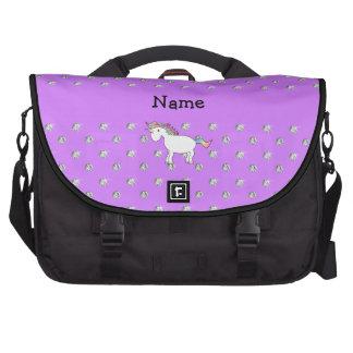 Diamantes púrpuras en colores pastel personalizado bolsas de portatil