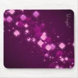 Diamantes púrpuras + mousepad del blingin tapete de raton