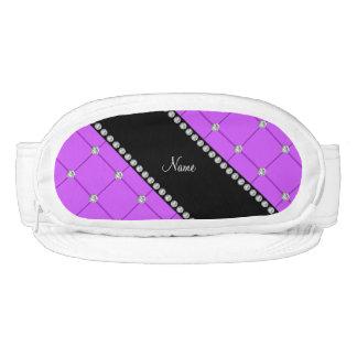 Diamantes púrpuras personalizados del penacho de visera