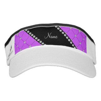 Diamantes púrpuras personalizados del penacho de viseras de alto rendimiento