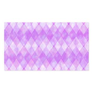 Diamantes púrpuras tarjetas de visita