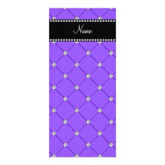 Diamantes purpúreos claros conocidos personalizado tarjeta publicitaria a todo color