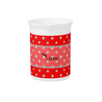 Diamantes rojos de neón conocidos personalizados jarras