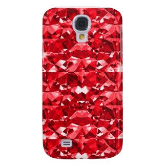 Diamantes rojos de rubíes funda para galaxy s4