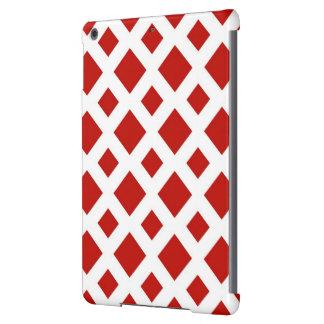 Diamantes rojos en blanco funda para iPad air