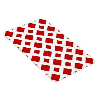Diamantes rojos en blanco imán rectangular