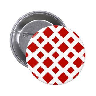 Diamantes rojos en blanco pin