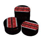 Diamantes rojos y negros del lunar y notas musical juego de fichas de póquer