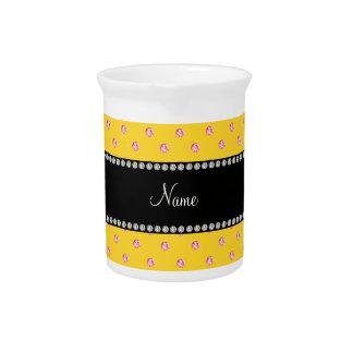 Diamantes rosados amarillos conocidos personalizad jarrón