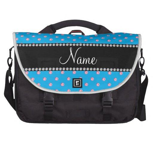 Diamantes rosados azules conocidos personalizados bolsas para portatil