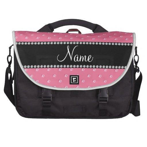 Diamantes rosados conocidos personalizados bolsas para ordenador