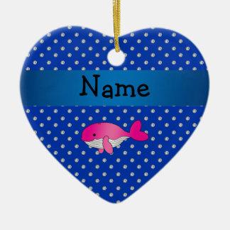 Diamantes rosados conocidos personalizados del adorno de cerámica en forma de corazón