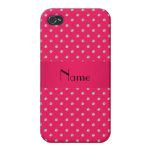 Diamantes rosados conocidos personalizados iPhone 4/4S carcasas
