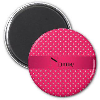 Diamantes rosados conocidos personalizados imán redondo 5 cm