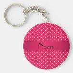 Diamantes rosados conocidos personalizados llaveros personalizados