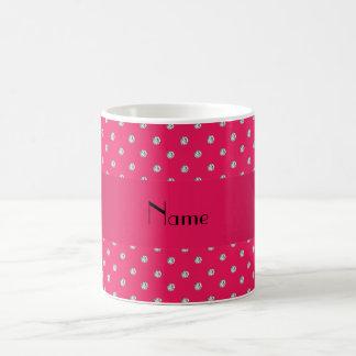 Diamantes rosados conocidos personalizados taza clásica