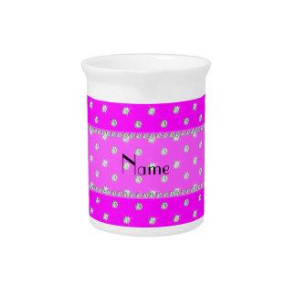 Diamantes rosados de neón conocidos personalizados jarra