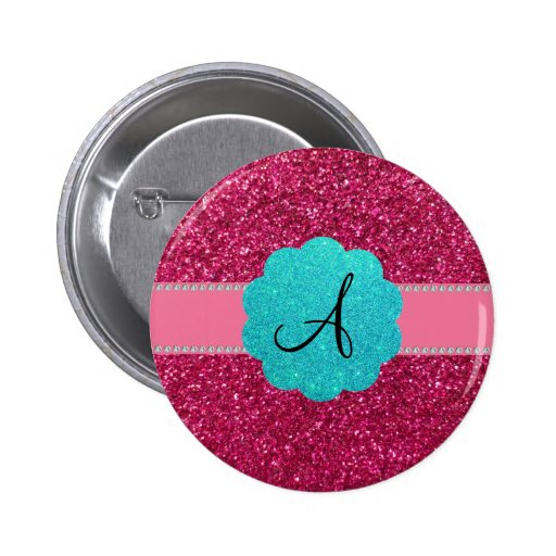 Diamantes rosados del monograma del brillo pin redondo 5 cm