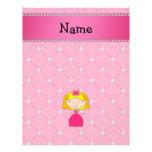 Diamantes rosados personalizados de la princesa co tarjetas publicitarias