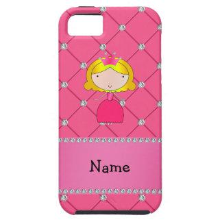Diamantes rosados personalizados de la princesa co iPhone 5 Case-Mate carcasa