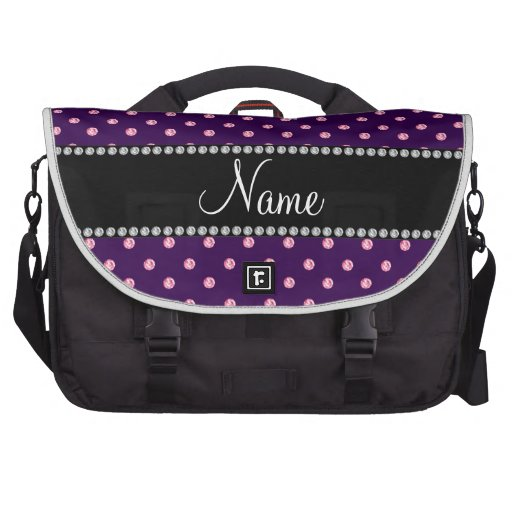 Diamantes rosados púrpuras conocidos personalizado bolsa de ordenador