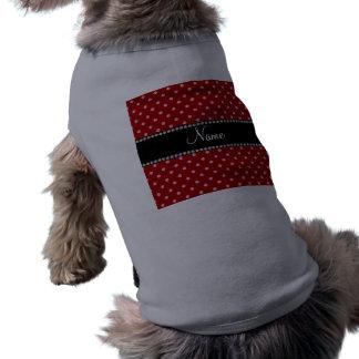 Diamantes rosados rojos conocidos personalizados camisas de mascota