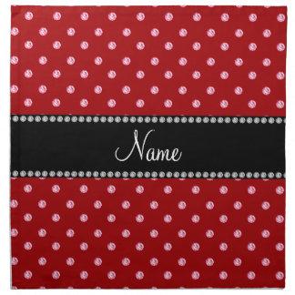 Diamantes rosados rojos conocidos personalizados servilletas imprimidas