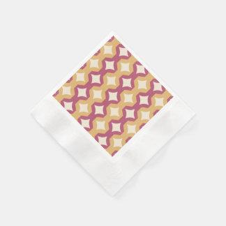 Diamantes rosados y amarillos servilleta desechable