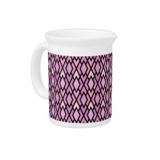 Diamantes rosados y de la lila bonitos jarras de beber