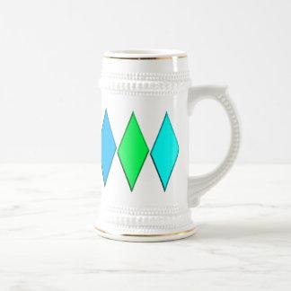 Diamantes Stein - azul/verde Taza