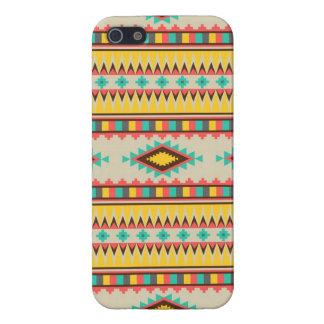 Diamantes tribales aztecas coloridos del nativo am iPhone 5 carcasa