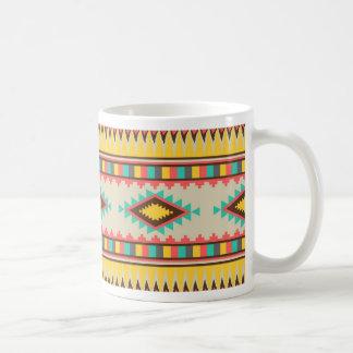Diamantes tribales aztecas coloridos del nativo am tazas de café