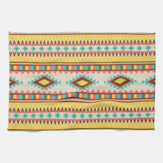 Diamantes tribales aztecas coloridos del nativo am toallas de mano