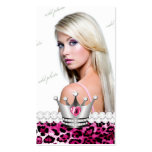 Diamantes TT-Perfectos del leopardo de la princesa Tarjetas De Visita