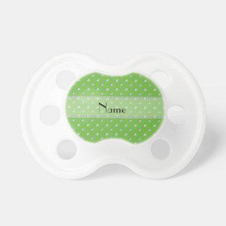 Diamantes verdes claros conocidos personalizados chupetes para bebes