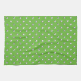 Diamantes verdes claros toallas de cocina