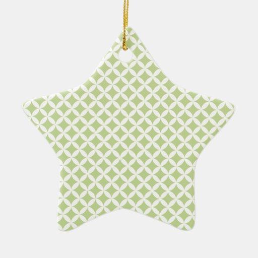 Diamantes verdes adorno de cerámica en forma de estrella