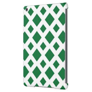 Diamantes verdes en blanco funda para iPad air