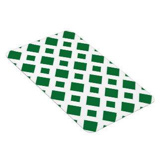 Diamantes verdes en blanco imanes