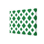 Diamantes verdes en blanco lona envuelta para galerías