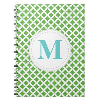 Diamantes verdes note book