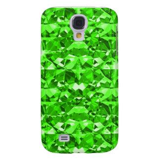 Diamantes verdes que destellan funda para galaxy s4