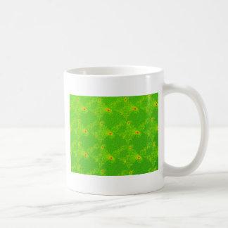 Diamantes verdes Swatch del fractal Taza De Café