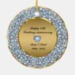 Diamantes y aniversario de boda del oro 50.o adorno para reyes