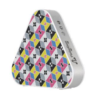 Diamantes y arcos inspirados orientales CYMK Altavoz Bluetooth