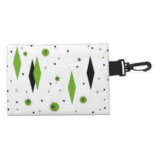 Diamantes y bolso verdes retros del accesorio de